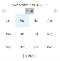 Month and year picker